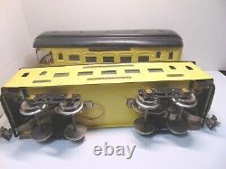 1926 Ives Standard Gauge 3236 Locomotive Parlor Car185 Observation 186 Train Set
