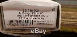 2d-026-003 N Gauge Dapol Class 86 243 The Boys Brigade Br Exec Livery