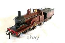 AB147Early Bing O Gauge 4-2-2 Johnson's Spinner Electric Locomotive & Tender