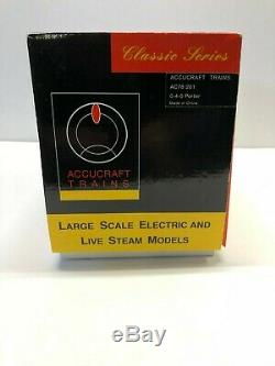 Accucraft AC78-201 Porter 0-4-0 Steam Engine Electric 120.3 Scale Narrow Gauge