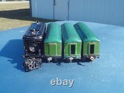 American Flyer Prewar O Gauge 3020 Electric Locomotive Passenger Car Train Set