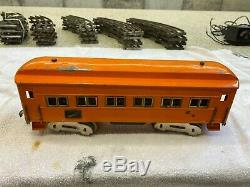 American Flyer Standard Gauge 4653 Electric Loco and passenger cars 5 total