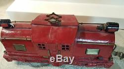 Dorfan red model 53 Electric O gauge locomotive c. 1920s