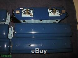 FA McCoy Std. Gauge 1965 Pacific NW Electric 4-4-4 Blue Set with4 Passenger Cars