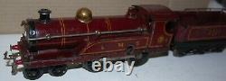 HORNBY O GAUGE C/W No 2 LOCOMOTIVE AND TENDER LMS RED LIVERY WITH BOX