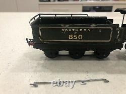 Hornby O Gauge SR Lord Nelson E850 Locomotive & Coal Rail Tender DC Electric IWO