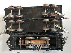 IVES 3253 ELECTRIC LOCO with 129 PULLMAN & 130 OBSERVATION PREWAR O GAUGE