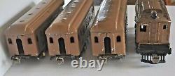 IVES RAILWAY LINES PREWAR ST. GAUGE 3236R LOCO With184, 185, 186 PASSENGER CARS