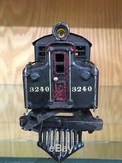 Ives 1 Gauge 3240 Black Locomotive c. 1912-6 Good to VG