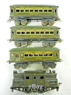 Ives Passenger Set O Gauge 3253 Loco 129 129 130 Passenger Cars Running
