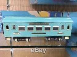 Ives Standard Gauge Cadet Blue 1071 Set OBSB with 3236 Loco, 185 Parlor & 186 Obs