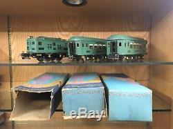 Ives Standard Gauge Cadet Blue 1071 Set with 3236 Loco, 185 Parlor, 186 Obs. & OB