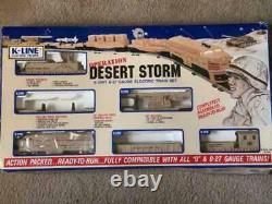 K-Line Desert Storm O27 Gauge Electric Train Set With New Transformer & Extras