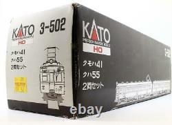 Kato'ho' Gauge 3-502 Jnr Kumoha 41 & Kuha 55 2 Car Electric Unit New