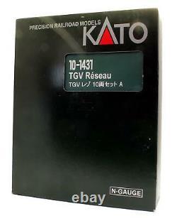 Kato'n' Gauge 10-1431 Tgv Reseau 10 Car Set DCC
