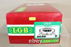 LGB 2035 G GAUGE YELLOW WHITE TROLLY TRAM CAR LOCOMOTIVE MINT BOXED nz