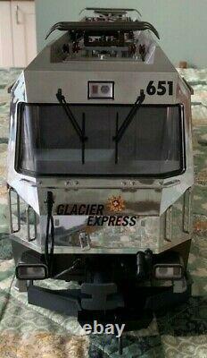 LGB G Gauge 21428 RhB Ge 4/4 III Glacier On Tour Electric Locomotive Train