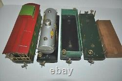 LIONEL PREWAR ST. GAUGE 318E ELECTRIC LOCO With511, 512, 515, 517 FREIGHT CARS