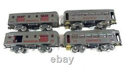 LIONEL Pre-War Standard Gauge Train Set Locomotive Engine 2 Caboose+Pullman Cars