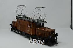 Lgb 20400'g' Gauge Rhb 413 Crocodile Electric Locomotive Brown