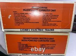 Lionel 6-18306 & 18310 Pennsylvania 4-Car Commuter Set (Power/3 NP)Used O Gauge
