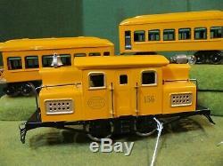 Lionel O Gauge 156 Loco Set with610 Pullman, & 612 Observation restored