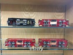 Lionel O Gauge 251E Locomotive with 710, 710, & 712 Pass Cars c. 1930 EX