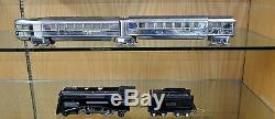 Lionel O Gauge 265E Commodore Vanderbilt Silver Streak Set with 618 & 619 Cars