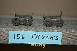 Lionel O Gauge Prewar Electric Train NYC 156 Early Period Electric Engine Trucks