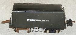 Lionel Pre War O Gauge Gunmetal 249E Locomotive With 265T Tender With Boxes