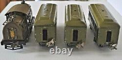 Lionel Prewar 254 Locomotive, 2 #610 Pullman & #612 Observation Cars O Gauge