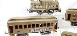 Lionel Prewar Train Set #10 Standard Gauge Electric Locomotive & 3 Passenger Car