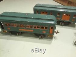 Lionel Standard Gauge # 10E Engine And Passenger Cars 332, 339 & 341