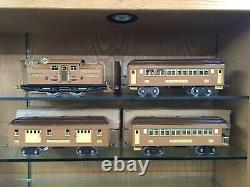 Lionel Standard Gauge 318 Loco Baby State Set with 309, 310, 312 Cars EX+ OB