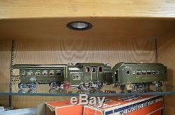 Lionel Standard Gauge 33 Dark Olive Green Loco with OB, Pullman & Observation