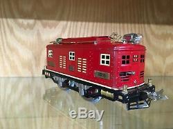 Lionel Standard Gauge 8 Red Locomotive withCream Stripe c. 1930-2 EX