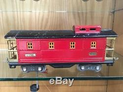 Lionel Standard Gauge Black 318E Loco Set with 3 x 516 Coal Hoppers, 517 Caboose