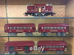 Lionel Standard Gauge Set with380 Loco, 2 x 319 Pullmans, 320, & 322 c. 1926 EX