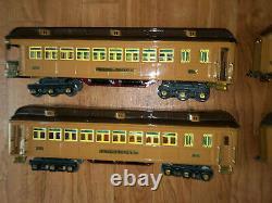 Lionel Std. Gauge Brown State Passenger Set with 408E 412 413 414 416 RESTORED