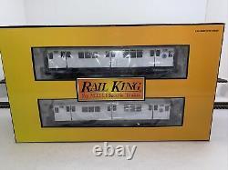 MTH RailKing 30-2372-1 MTA R-12 4 Car Subway Set (White) PS. 2 O Gauge New #1