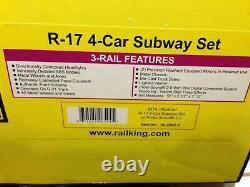 MTH RailKing O Gauge REDBIRD R-17 4 CAR SUBWAY SET Proto 2 30-2392-1