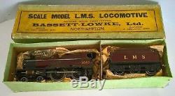 O Gauge BASSETT LOWKE L. M. S. Compound Locomotive 3-Rail Electric 12v DC 5302/0
