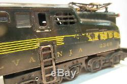 Post War Lionel Train GG1 Pennsylvania Electric Engine 2340 O Gauge Dark Green