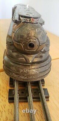 Prewar Lionel O Gauge 238E Pennslyvania Torpedo Locomotive and Whistling Tender