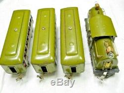 Prewar Lionel O Gauge Passenger Set 266E 254E 610 610 612 Light Olive Runs Great