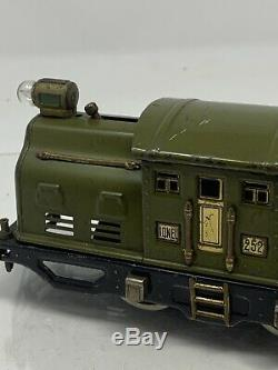 Prewar Lionel Train 252 Olive Electric O Gauge Engine Running L20-5