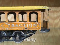 Rare Knapp 2 Gauge Six-Window Electric Traction Trolley c. 1902-13 EX