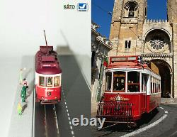 Red touristic Lisbon Tram HO/N gauge (HOe) motorized with light NEW
