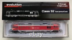 Revolution Trains N-Gauge Class 92 DB Schenker Livery Brand New