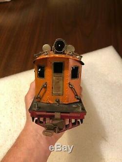 Scarce Orig Lionel Prewar Early Rs #256 0 Gauge Orange 0-4-4-0 Electric Loco